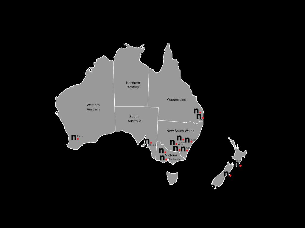 Map Of Australia Nz.Map Of Aus And Nz Netier