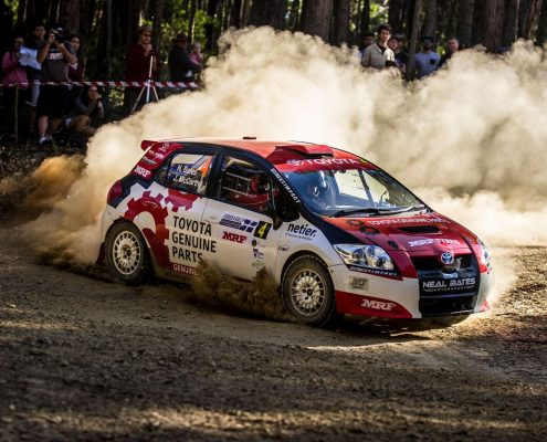 Netier on track at Eureka Rally 2017
