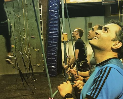 Rockclimbing Team Event at Netier